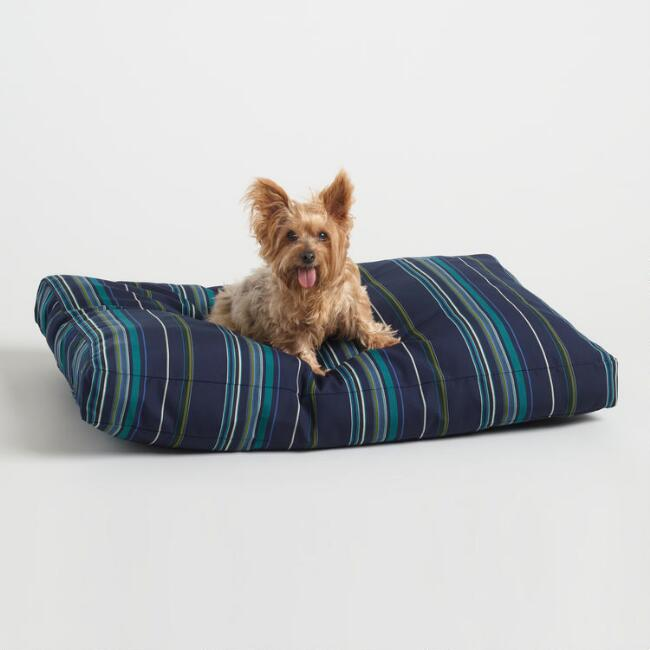 Sunbrella Cool Stripe Stanton Indoor Outdoor Dog Bed