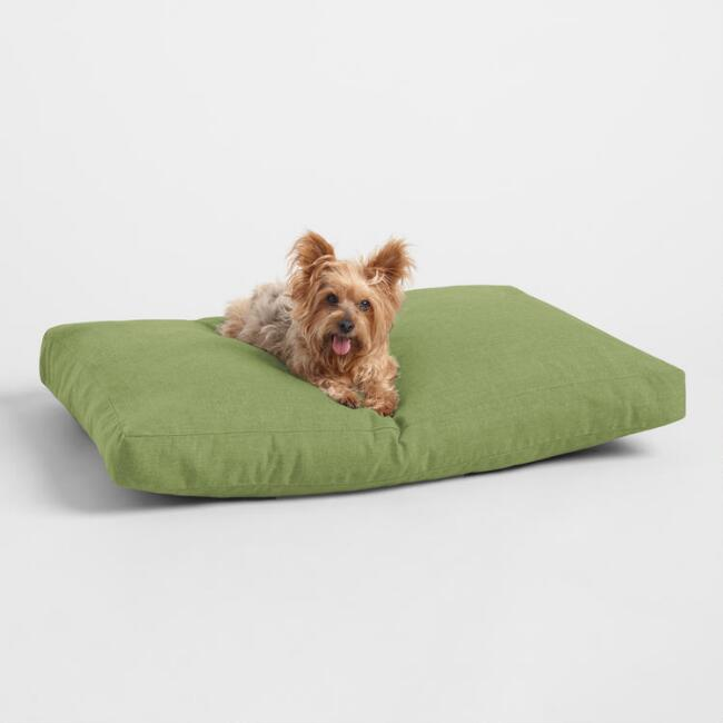 Sunbrella Moss Green Cast Indoor Outdoor Dog Bed