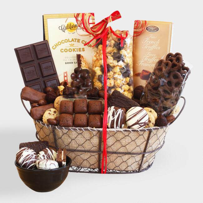 Simply Irresistible Chocolate Wire Gift Basket