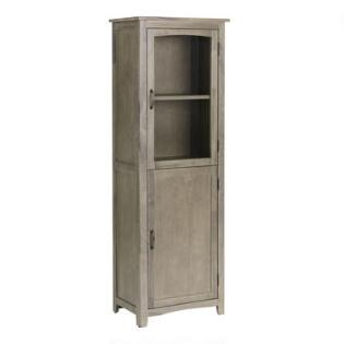 Weathered Gray Jozy Dining Room Curio Cabinet