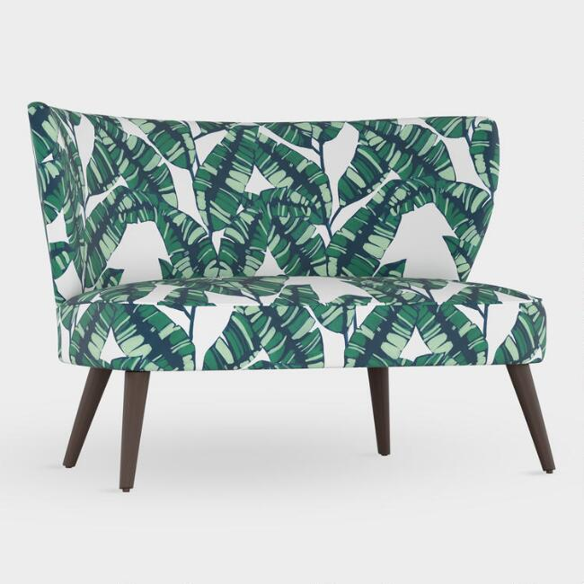 Palm Springs Green Kenway Upholstered Loveseat