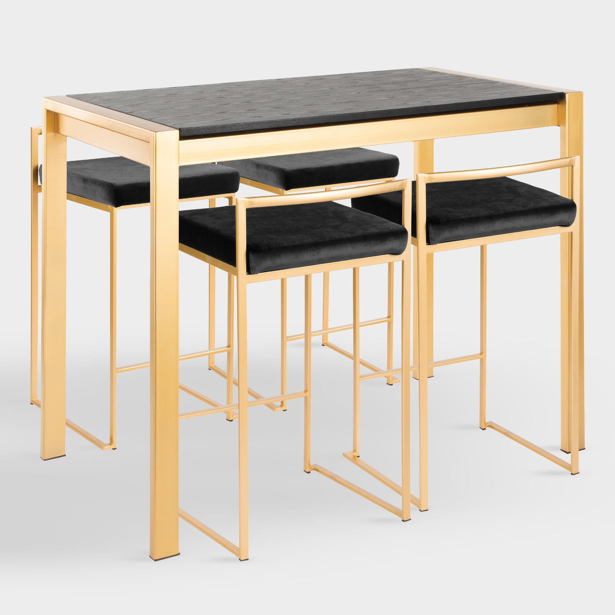 Gold Fiona Counter Height Dining Collection by World Market