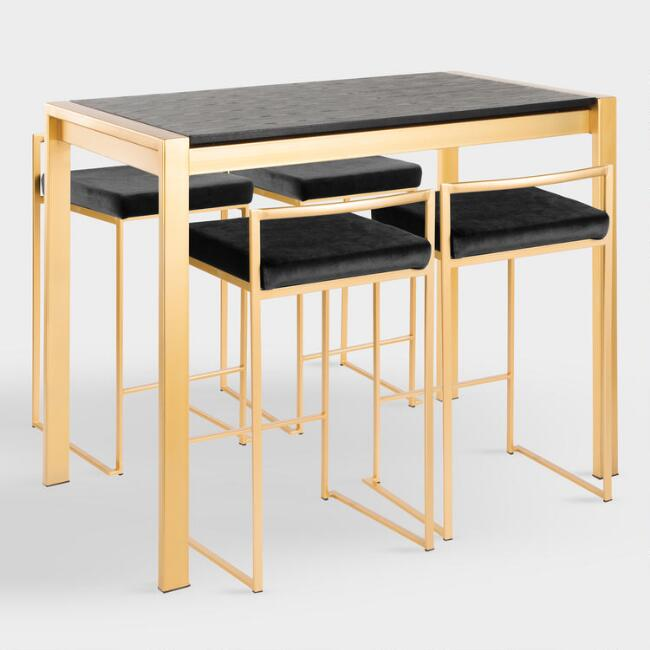 Gold Fiona Counter Height Dining Collection