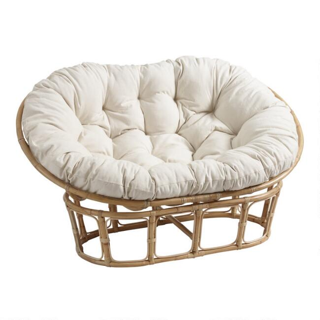Elora Speckled Oatmeal Double Papasan Chair Cushion