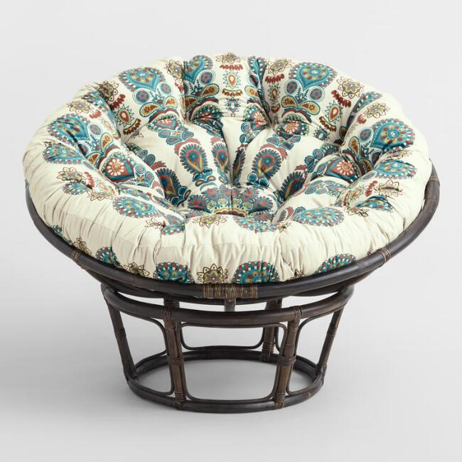 Radiant Print Microsuede Papasan Chair Cushion