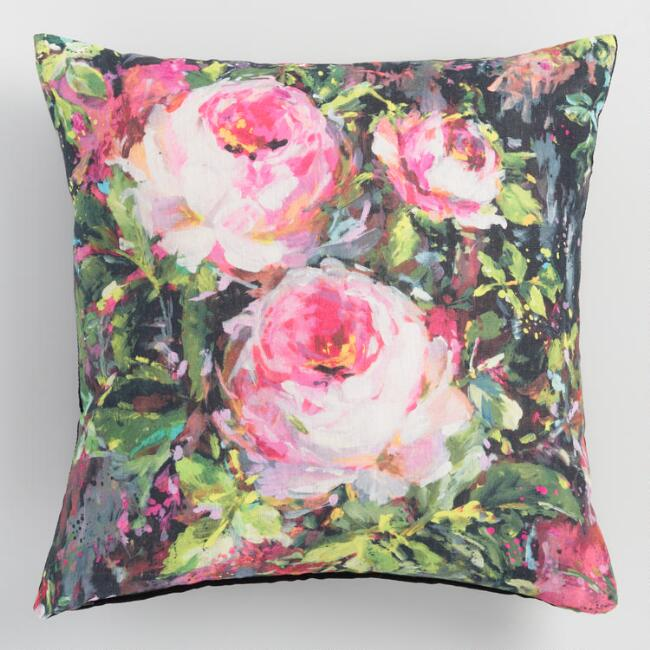 Floral Printed Felicity Throw Pillow