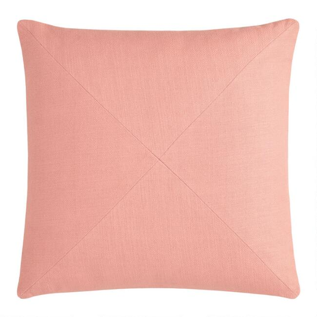 Terracotta Herringbone Cotton Throw Pillow