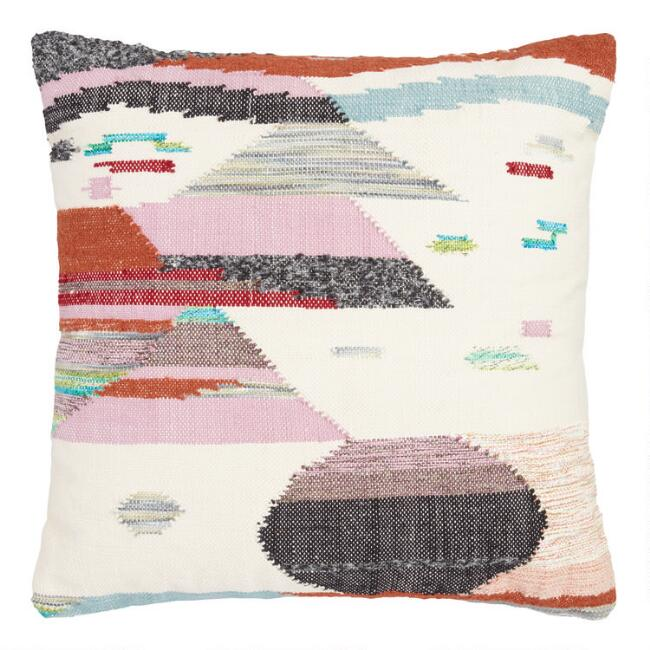 Multicolored Desert Landscape Indoor Outdoor Throw Pillow World Market