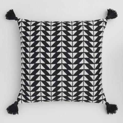 Black And White Arrow Indoor Outdoor Throw Pillow World Market