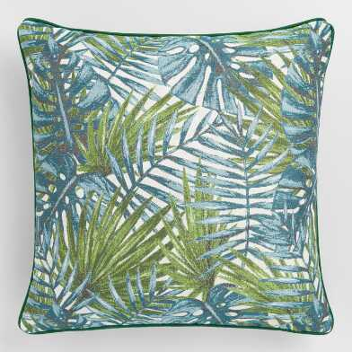 Fern Leaf Jacquard Throw Pillow