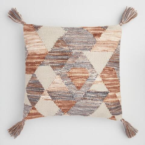Geometric Desert Woven Indoor Outdoor Throw Pillow World Market