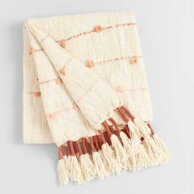 Warm Tassel Aria Throw Blanket