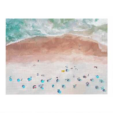Beach View Canvas Wall Art