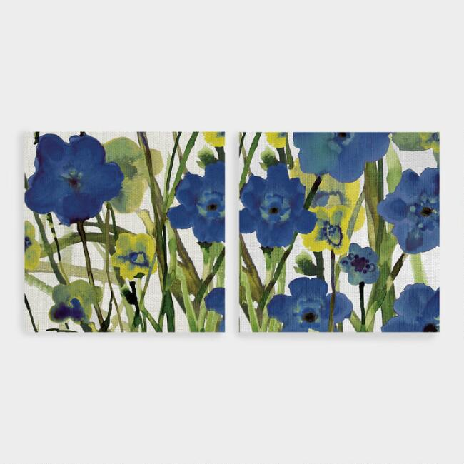 Picking Flowers I and II by Susan Jill Wall Art Set of 2