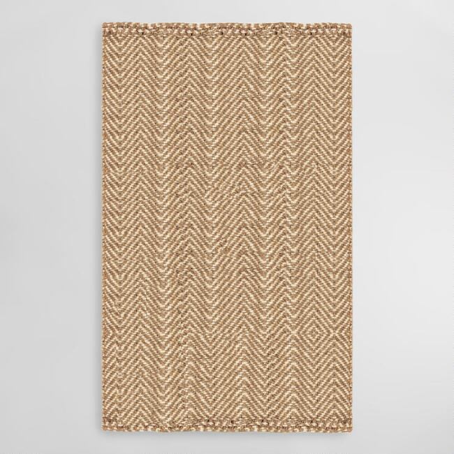 Natural Chevron Jute Area Rug
