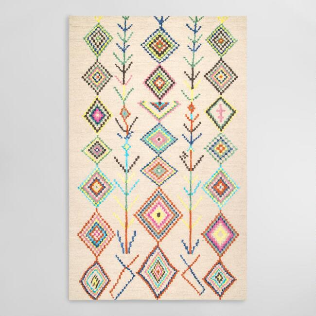 Ivory Multicolor Geometric Bella Area Rug