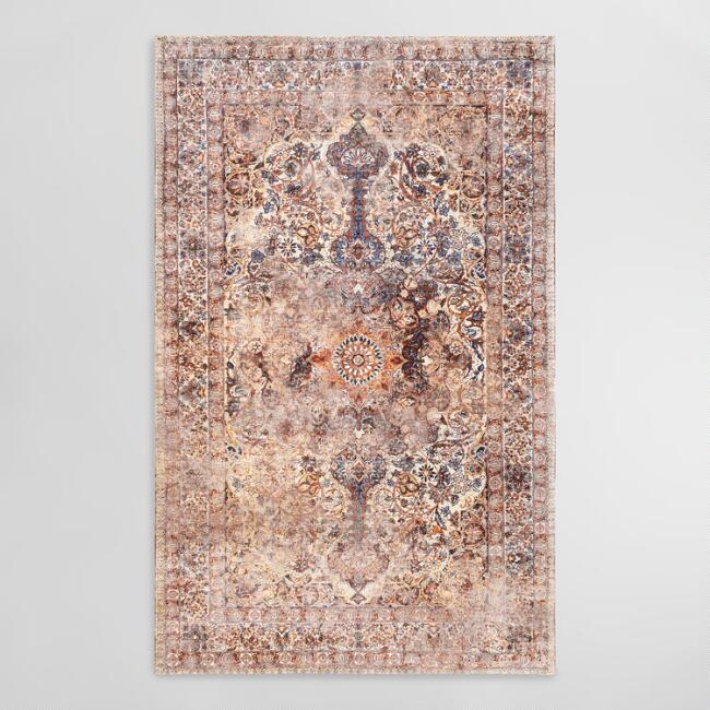 Red Distressed Karla Area Rug