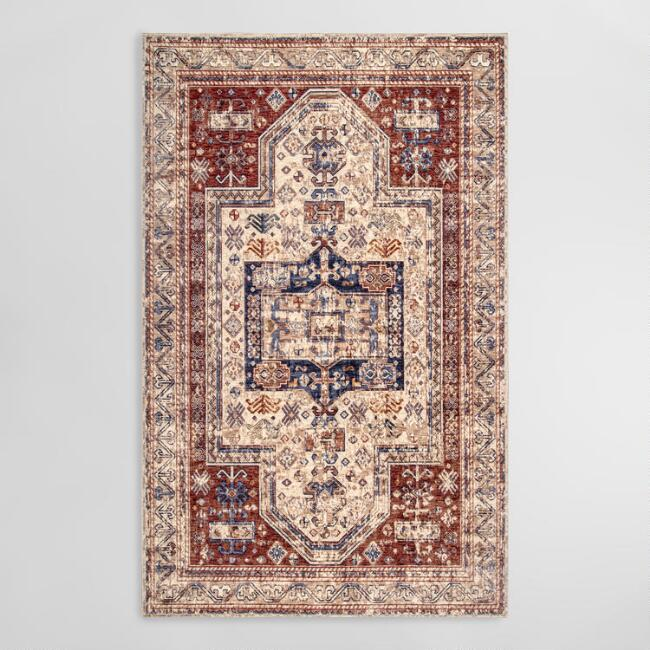 Rust Vintage Tribal Krista Area Rug