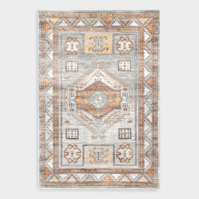 Orange Multicolor Vintage Kathleen Area Rug