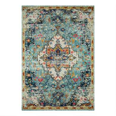Blue Medallion Nadine Area Rug