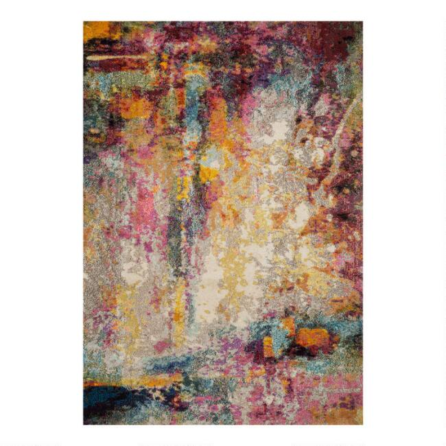 Multicolor Abstract Nadine Area Rug