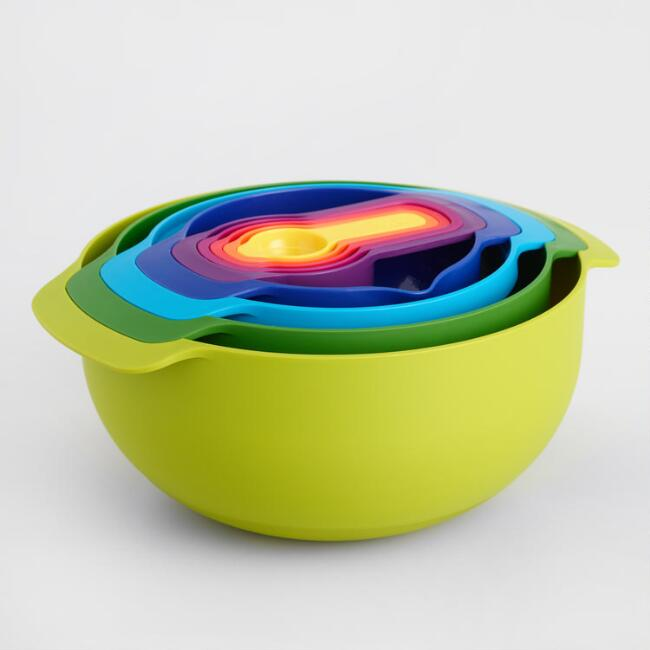 Joseph Joseph 9 Piece Nesting Bowl and Measuring Cup Set