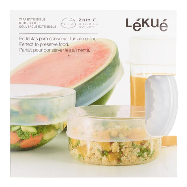 Medium Clear Lekue Stretch Silicone Storage Lid