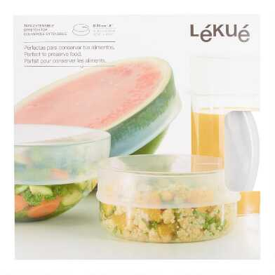 Large Clear Lekue Stretch Silicone Storage Lid
