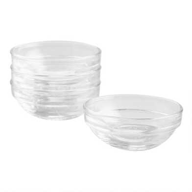 Mini Duralex Lys Stackable Glass Bowls 4 Pack