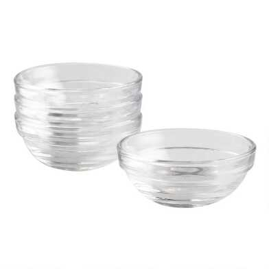 Small Duralex Lys Stackable Glass Bowls 4 Pack