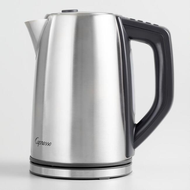 Capresso H2O Steel PLUS Electric Coffee and Tea Kettle