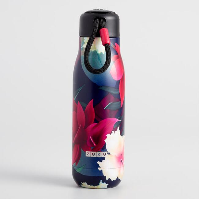 Medium Paradise Floral Zoku Insulated Water Bottle