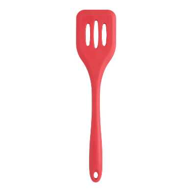 Red Silicone Slotted Turner