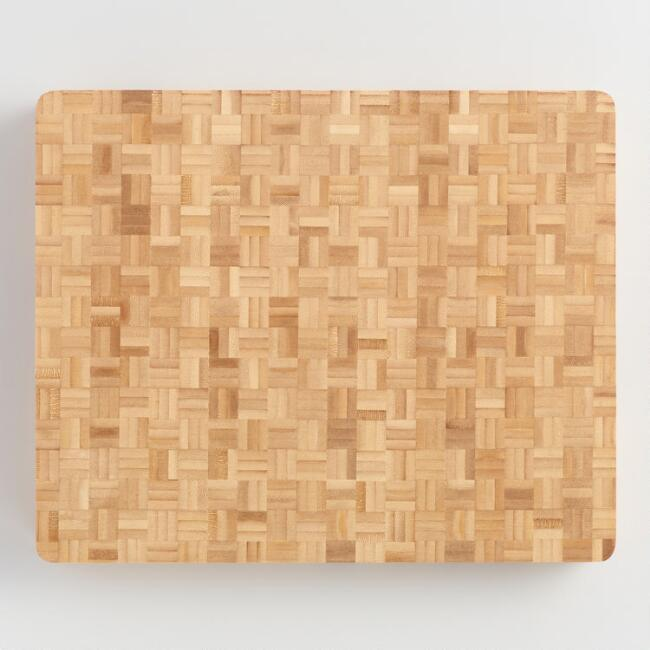 Bamboo End Grain Butcher Block Cutting Board