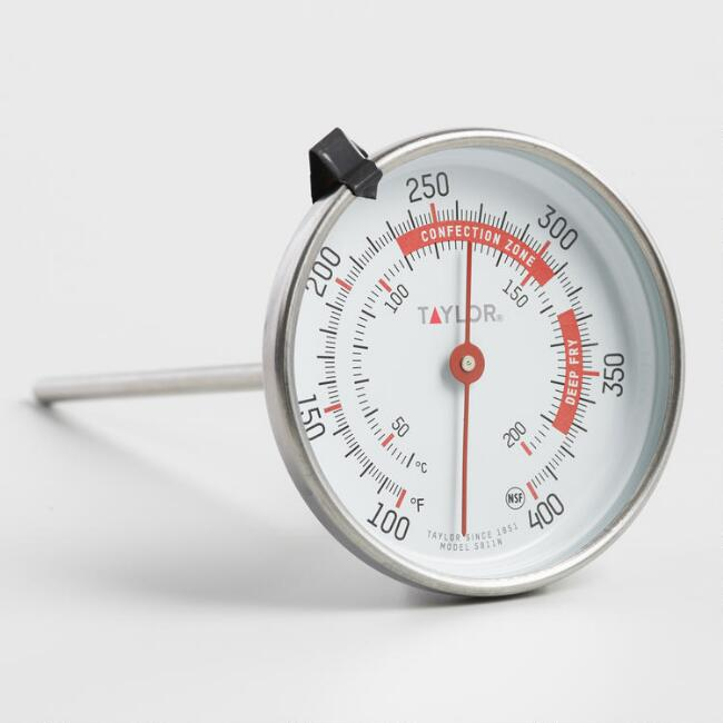 Taylor Analog Dial Candy and Deep Fry Thermometer