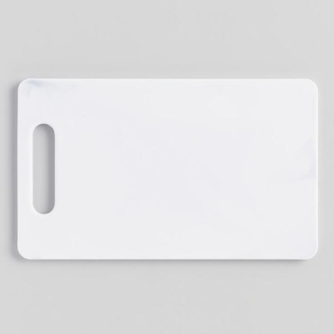 Small White Marbled Poly Cutting Board