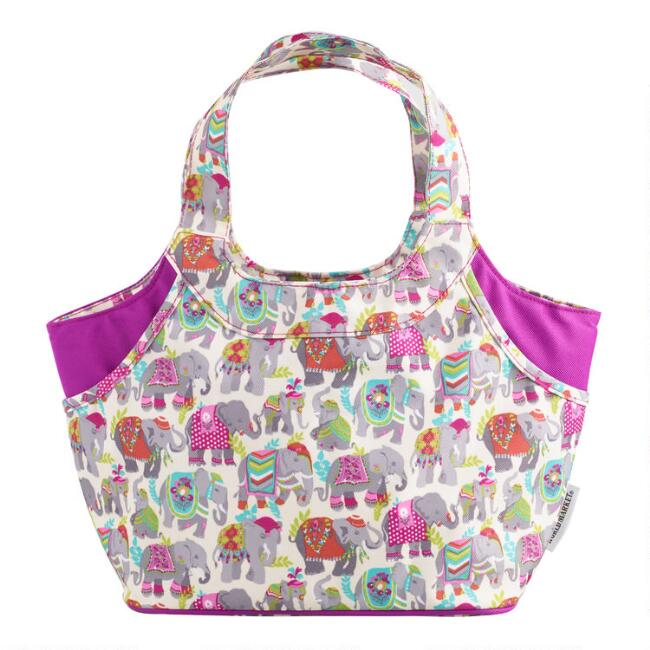 Elephants on Parade Jane Insulated Lunch Bag