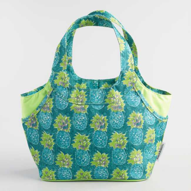 fa303a7e33a9 Teal Pineapple Jane Insulated Lunch Bag