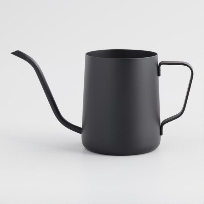 Mini Black Metal Gooseneck Milk Pitcher