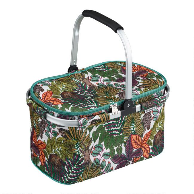 Green Jungle Love Collapsible Insulated Tote Bag