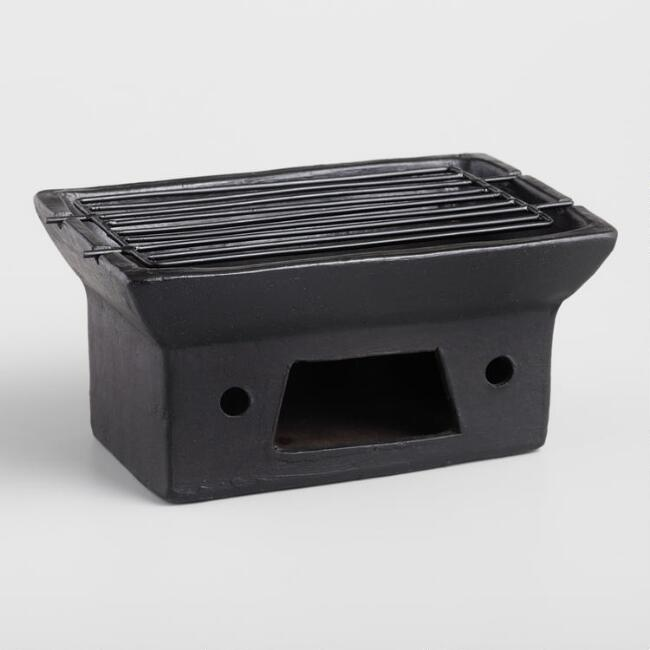 Small Terracotta Charcoal Satay Grill