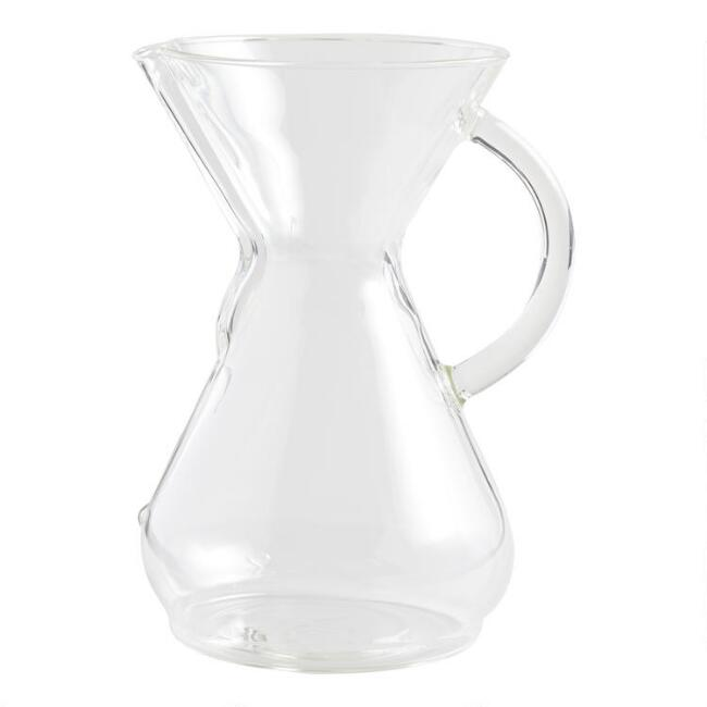 Chemex 8 Cup Glass Handle Pour Over Coffee Maker World Market
