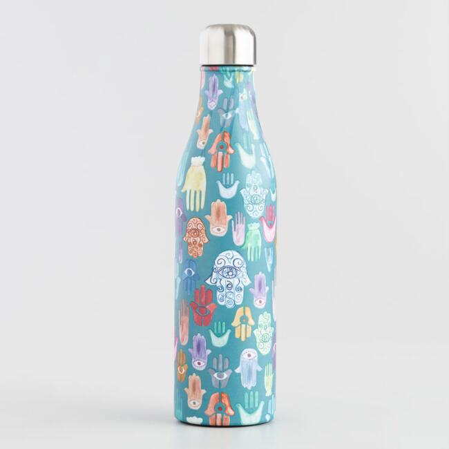 Large Hamsa Insulated Stainless Steel Water Bottle