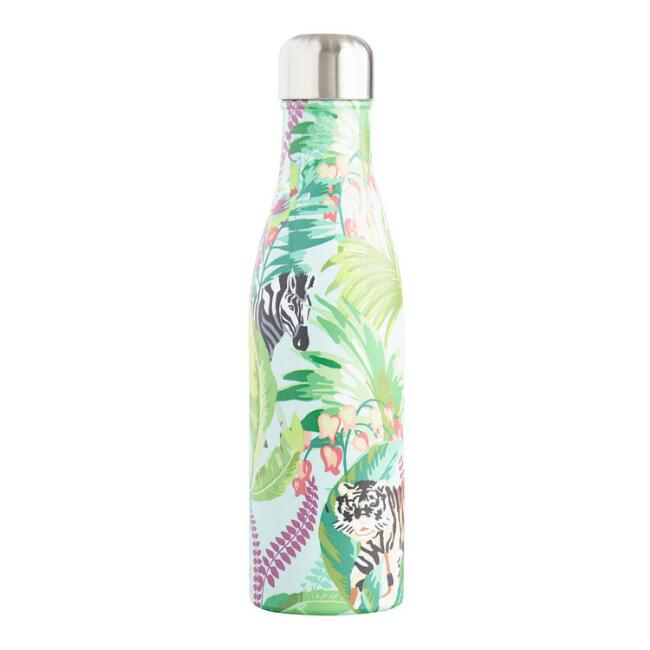 Large Jungle Life Insulated Stainless Steel Water Bottle