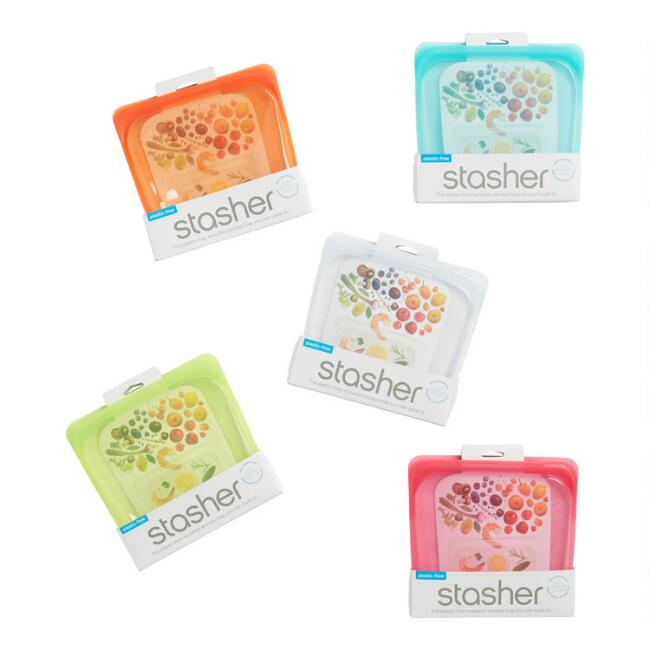 Stasher Reusable Silicone Sandwich Bags Set of 3
