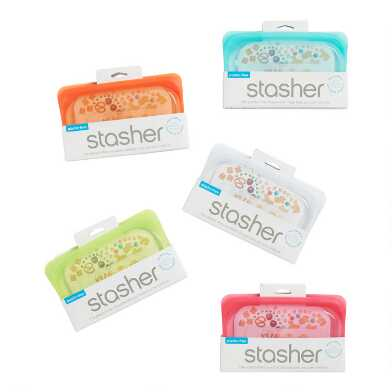 Stasher Reusable Silicone Snack Bags Set of 3
