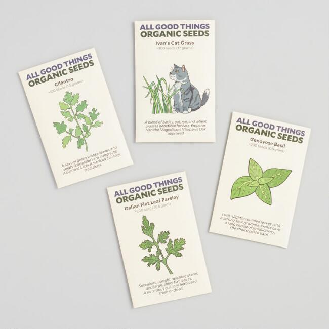 Organic Herb Seed Packets 4 Pack