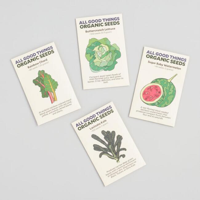 Organic Produce Seed Packets 4 Pack