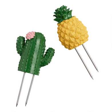 4 Pack Cactus and Pineapple Corn on the Cob Holders Set of 2