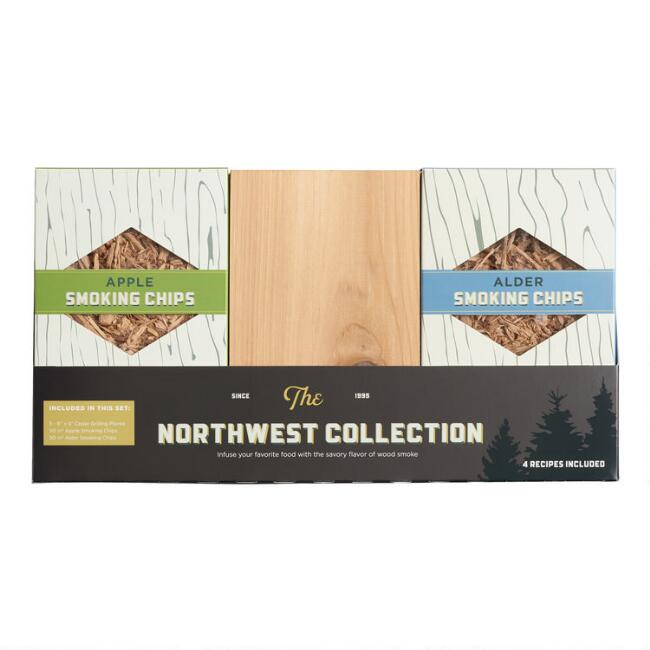Wildwood Grilling Smoking Planks and Chips 7 Piece Gift Set